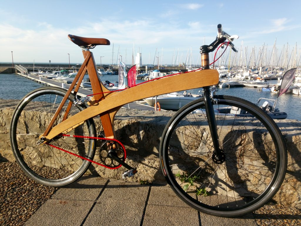 Gael's handcrafted wooden bike